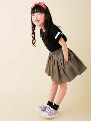 カーキ [100-130]インナーパンツ付きカラーギャザースカート[WEB限定サイズ] a.v.v bout de chouを見る