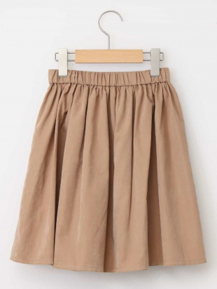 ネイビー [140-150]ポケット付きマットギャザースカート a.v.v bout de chouを見る