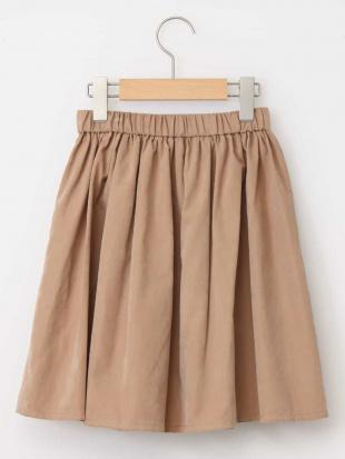 ベージュ [140-150]ポケット付きマットギャザースカート a.v.v bout de chouを見る