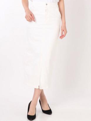オフホワイト 【SOMETHING×MERCURYDUO】フレンチヌーボタイトスカート MERCURYDUOを見る
