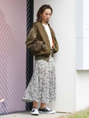 ブラウン アニマルプリントスリットスカート Ungridを見る