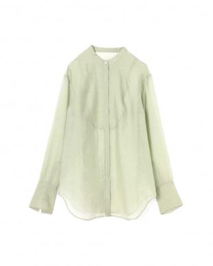 ライトグリーン スタンドカラーシャツ R/B(オリジナル)を見る