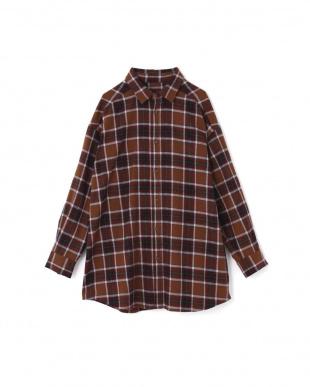 ブラウン バックボタンビッグシャツ R/B(オリジナル)を見る