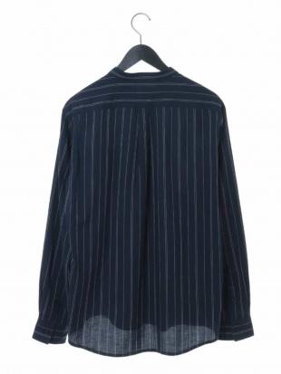 アイボリー ストライプバンドカラーシャツ a.v.v HOMMEを見る