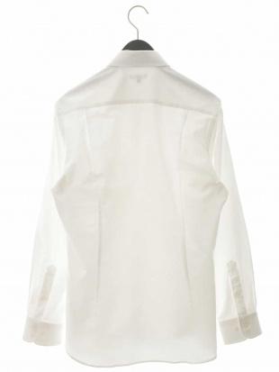 ホワイト 40オックスワイドカラーシャツ a.v.v HOMMEを見る