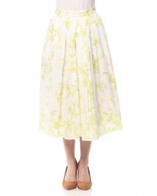 Yellow ワントーンプリントスカートを見る