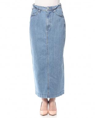 ライトブルー  Back Vent Long Skirt -LBLを見る