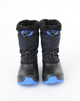 ブラックデニム ブルー プーキーズ ジュニア セミロング 防寒スノーブーツを見る