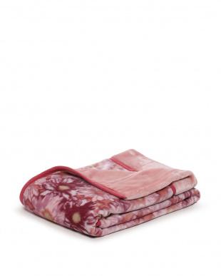 ピンク マイヤー毛布 マーガレット柄を見る