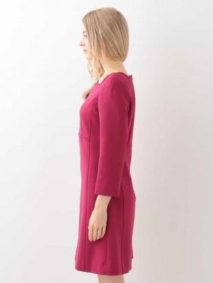 ピンク スカラップデザイン切り替えドレス TARA JARMONを見る