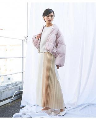ピンク ODORANTES/スプリングショートダウン ナノ・ユニバースウィメンズ(オリジナル)を見る