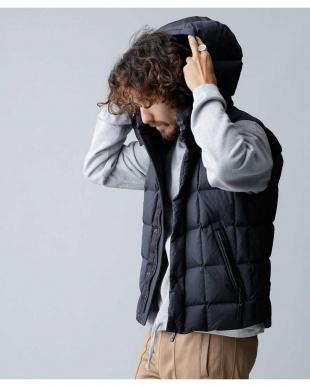 ブラック 西川ダウン カグラベスト ナノ・ユニバースメンズ(オリジナル)を見る