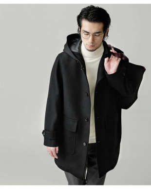 ブラック メルトンフードコート ナノ・ユニバースメンズ(オリジナル)を見る