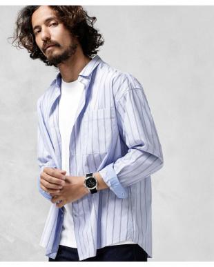 パターン21 マルチストライプワイドシャツ ナノ・ユニバースメンズ(オリジナル)を見る