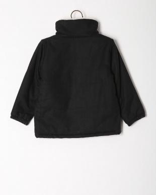 ブラック 中綿ジャケットツイードフリースを見る