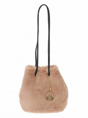 ベージュ 【WEB限定】エコファー巾着バッグ MK MICHEL KLEIN BAGを見る