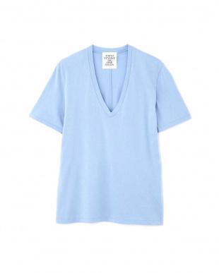 ブルー VネックTシャツ TOKYOSTYLIST THEONE EDITIONorgを見る