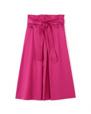 ピンク サテンベルテッドスカート アッシュスタンダードを見る