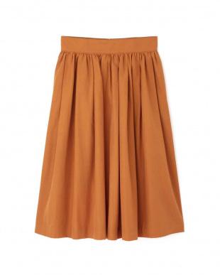 テラコッタオレンジ タックギャザースカート アッシュスタンダードを見る