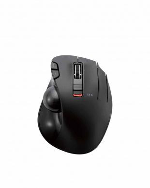 ブラック 「トラックボールマウス」 親指/5ボタン/左右スクロール機能/無線を見る