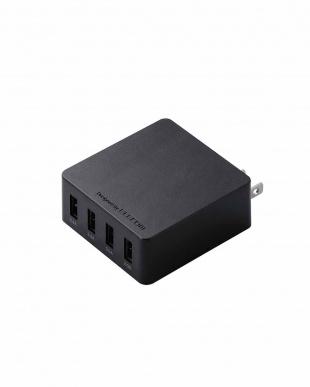 ブラック 「AC充電器」 4A出力/4ポートを見る