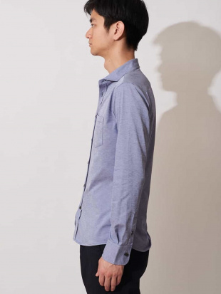 ネイビー DISNOTICED 機能性ホリゾンタルカラーシャツ MK MICHEL KLEIN hommeを見る