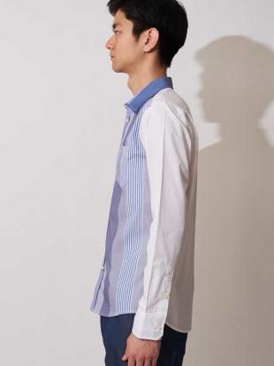ネイビー マルチストライプシャツ<Stripe Shirts> MK MICHEL KLEIN hommeを見る