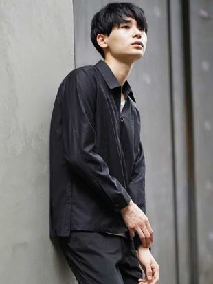 ブラック デザインジップシャツ MK MICHEL KLEIN hommeを見る