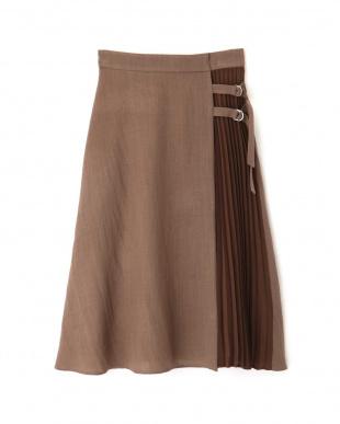 ブラウン ◆サイドプリーツカラースカート プロポーション ボディードレッシングを見る