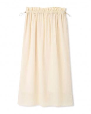 アイボリー ◆《EDIT COLOGNE》楊柳ギャザースカート プロポーション ボディードレッシングを見る
