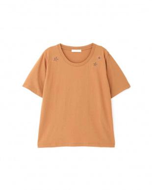 テラコッタ2 ◆スター刺繍Tシャツ プロポーション ボディードレッシングを見る