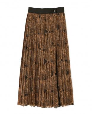 ブラック レイヤードプリントスカート アドーアを見る