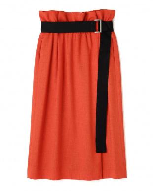 レッドオレンジ トリアセカルゼベルト付きスカート アドーアを見る