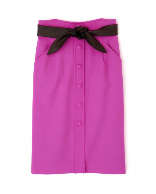マゼンダ1 ◆レザーリボン付きフロント釦スカート PINKY & DIANNEを見る