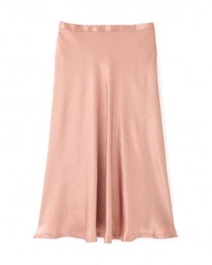 ピンク グロッシーサテンバイヤススカート PINKY & DIANNEを見る