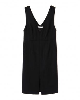ブラック ◆ウールヘリンボーンジャンパースカート PINKY & DIANNEを見る