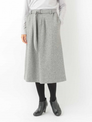 ライトグレー 【後ろゴム】タックデザインスカート GIANNI LO GIUDICEを見る