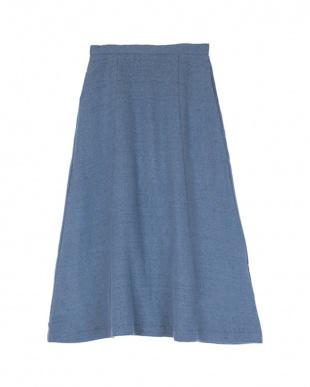 ダークブルー Aラインフレアスカートを見る