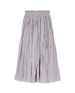 ライトグレー ワッシャープリーツスカートを見る