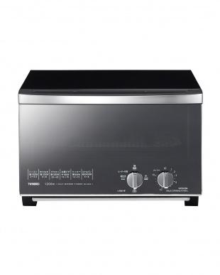 ブラック ミラーガラスオーブントースターを見る