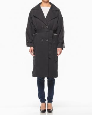 ブラック 配色パイピング スプリングコートを見る