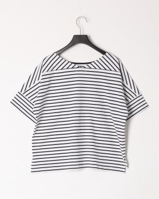 ネイビー コットンバスクジャージーボリュームTシャツを見る