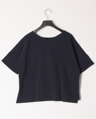 ネイビーA コットンバスクジャージーボリュームTシャツを見る