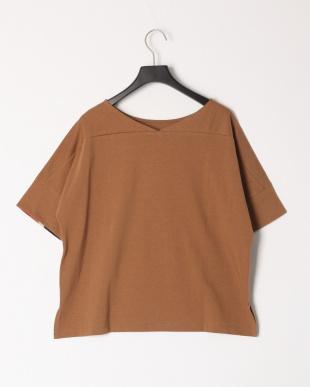 ブラウン コットンバスクジャージーボリュームTシャツを見る