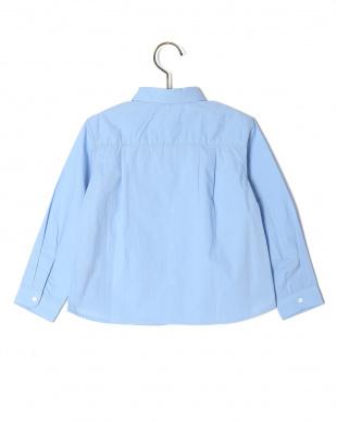 ブルー  ポケットツキタイプライターシャツジャケットを見る