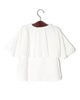ホワイト 24/-バックフレアー5ブソデTシャツを見る