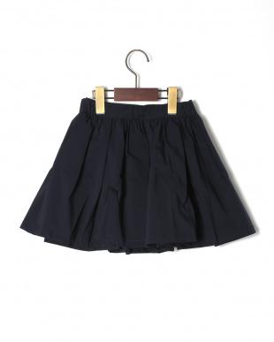 ネイビー  タックギャザーボリュームスカートを見る