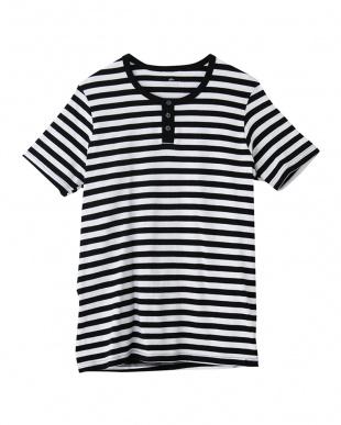 ブラック ヘンリーネックTシャツ ×5点セットを見る