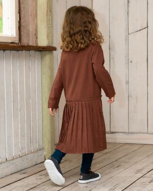 BROWN リンクコーデ 裾プリーツ切り替えローウエストワンピースを見る