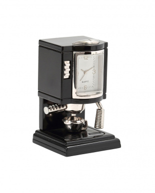 ブラック コーヒーメーカー ミニチュアクロックを見る